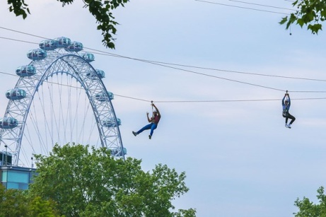 London Zip Line Experience for Two Adults - ONLY £49!