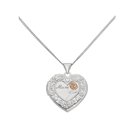 Mothers Day Gift Ideas - Moon & Back Sterling Silver 'Mum' Heart 2 Photo Locket £29.99!
