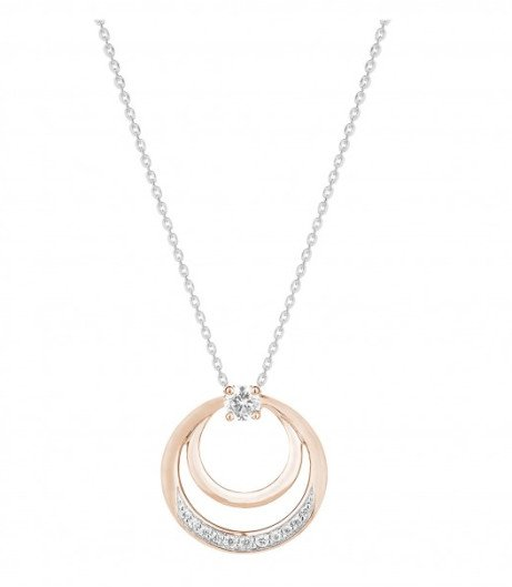 Get £115 off this beautiful Rose and white gold double circle pendant