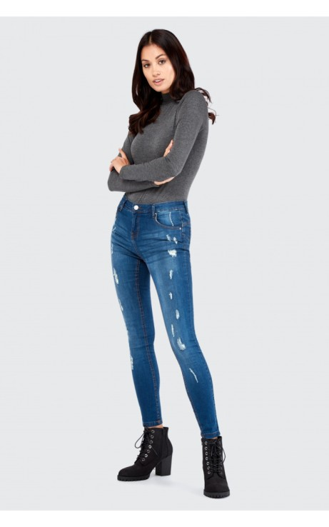 STELLA SMALL RIPPED MID RISE JEAN: SAVE 68%!