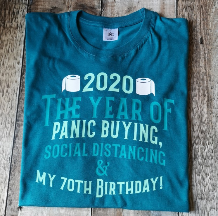 2020 the year of social distancing custom birthday T-shirt - £16.00