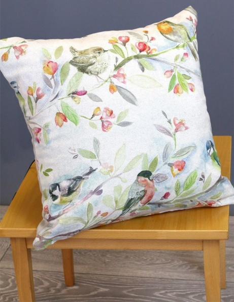 Large cushion cover with Bird Design: £20.00!