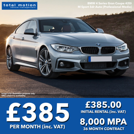 BMW 4 Series Gran Coupe M Sport, Low Deposit, Low Monthly Rental | Personal Leasing