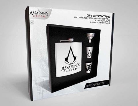 ASSASSINS CREED LOGO HIP FLASK SET - £19.99!