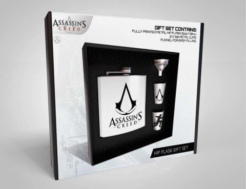 ASSASSINS CREED LOGO HIP FLASK SET - £19.99!