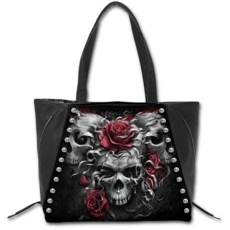 SKULLS N' ROSES Tote Shopper Handbag