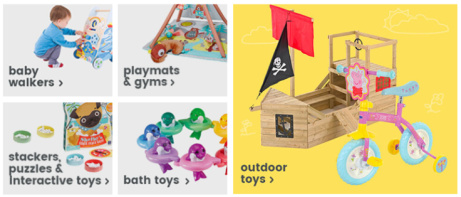 Home & Outdoor toys from ONLY £4 at Uber Kids!