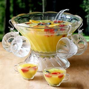 Exclusive Glass Punch Bowl Set