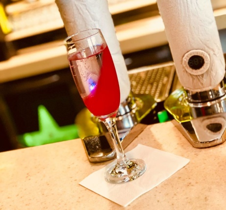 This weekend come and try our new Halo Vodka slush machine