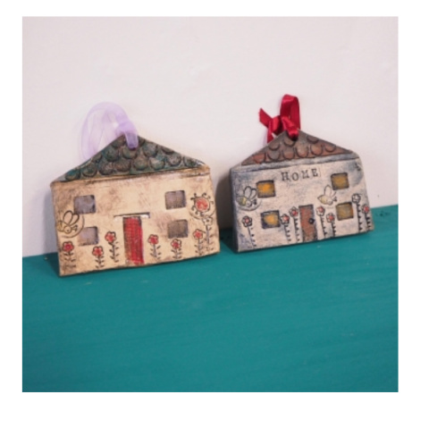 Hand made Home ceramic hangings by Gina Stalley - £15.00!