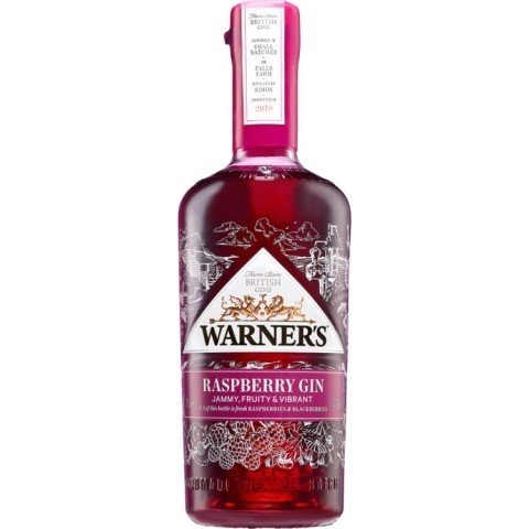 Gifts For Her - Warner's Raspberry & Fresh Hedgerow Fruit Gin 70CL: £39.50!