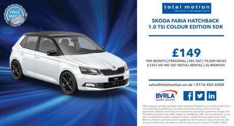 Skoda Fabia Colour Match | Personal Lease | £149 (inc. VAT) P/M!