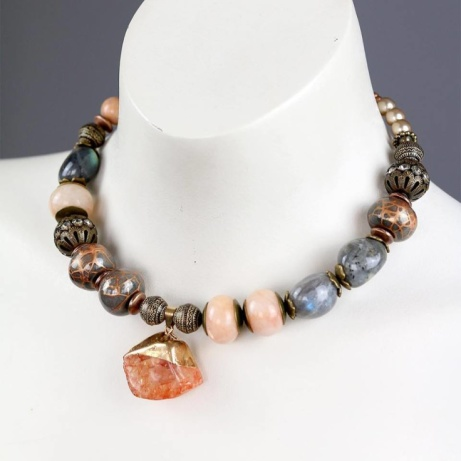 Inspired by our Athens visit this summer and made with Athenian handmade clay beads!
