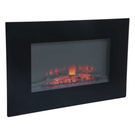 SAVE 75% on this Charles Bentley Electric Wall Mounted Large Black Fireplace!