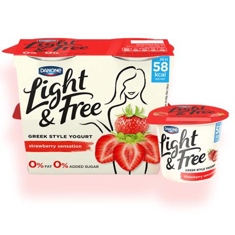 Light & Free Skyr Icelandic Style Yogurt Strawberry Stride 150g