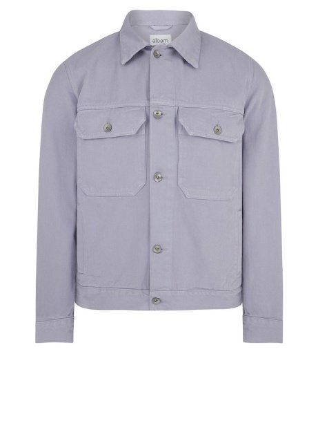 SAVE £101.00 - Albam Garment Dyed Utility Jacket in Lavender!