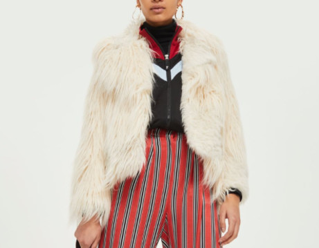 44% OFF this Patchwork Faux Fur Coat - NOW ONLY £50!