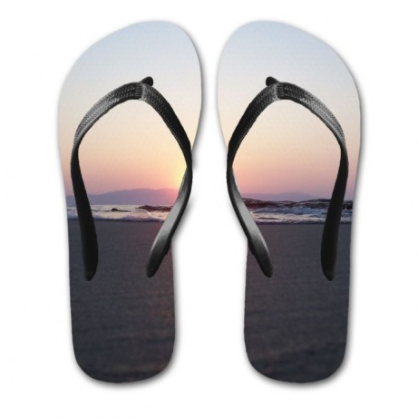 Enjoy the heatwave with our Sunset Print Flip Flops just £19.00!