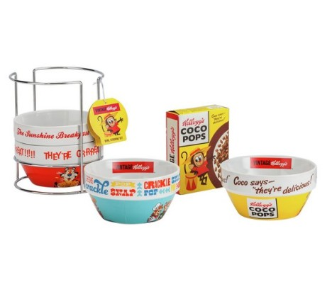 4x Kellogg's Stacking Bowls with Coco Pops - LESS THAN £10!