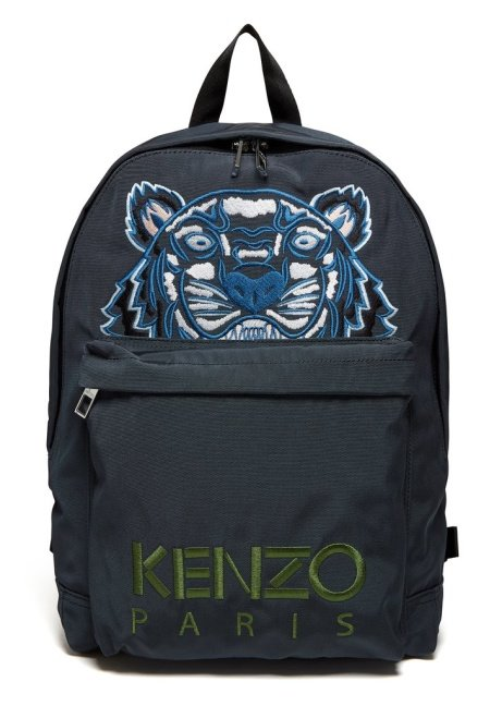 SAVE £53.00 - Kenzo SS18 Large Tiger Canvas Backpack in Grey!
