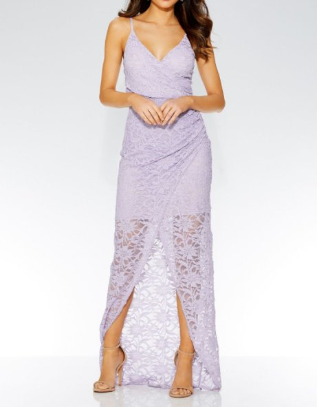 SAVE 60% on this Lilac Glitter Wrap Front Maxi Dress!