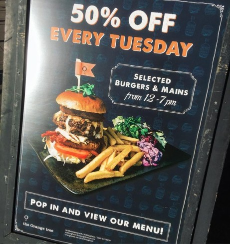 50% off Food this Tuesday