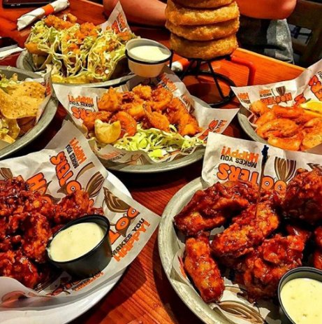 Lunchtime never looked better - Get your self down to Hooters Nottingham today!