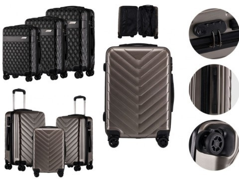 2019 ABS Hard Shell Cabin Suitcase Case 4 Wheels