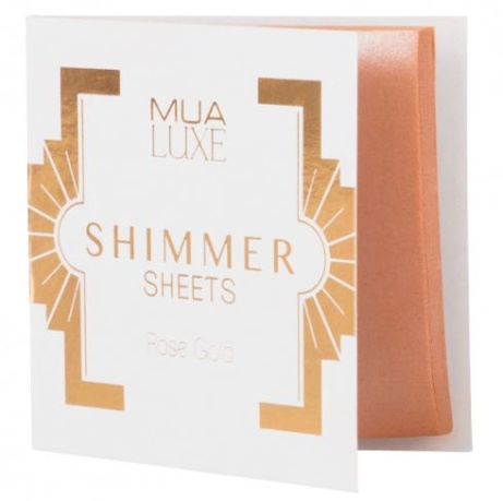 SAVE 50% OFF MUA Luxe Shimmer Sheet Rose Gold!