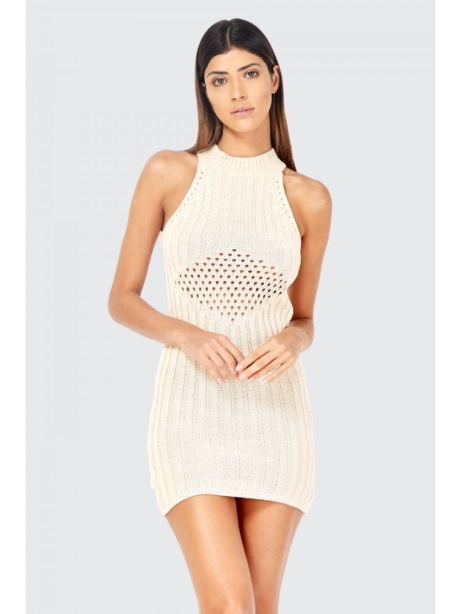 SAVE 60% on this Sleeveless Knit Stich Dress!