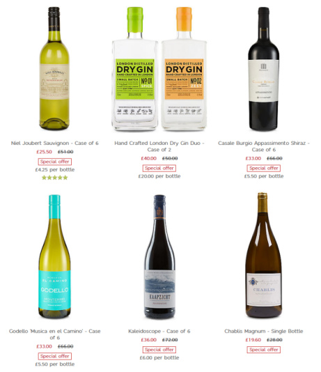 Up to 50% off Selected Wines, beers and spirits in our Summer wine clearance