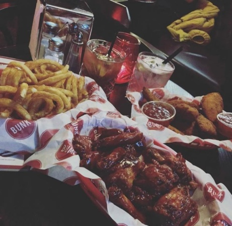 Bunk Wings is providing the entertainment this evening with Half Price Wings before 10pm