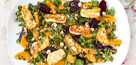 Fancy lunch? Try our Halloumi Beetroot salad just £5.95!