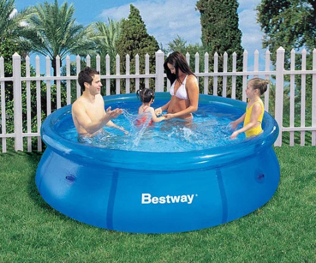FUN IN THE SUN - SAVE £5 on this Clear Fast Set 8ft Pool!