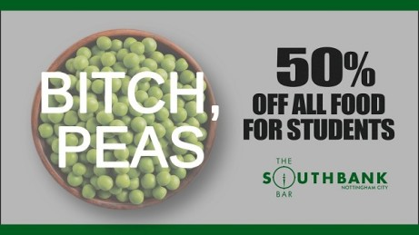 50% OFF all food for students!