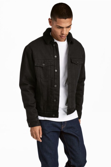 Selected Spring Must Haves - Pile-lined denim jacket: Save £20.00!