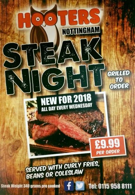 Steak Night- £9.99 per order.