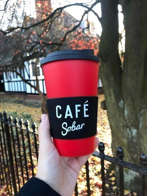 Our red thermal cups are free with any takeaway hot drink before 10am, £5 otherwise!