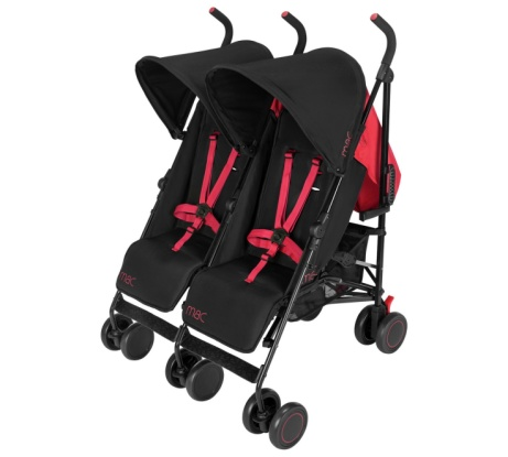 SAVE £95 on this Mac by Maclaren Black Twin Pushchair!