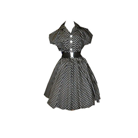This wonderful Black and White Spotted Dress is only £59.99