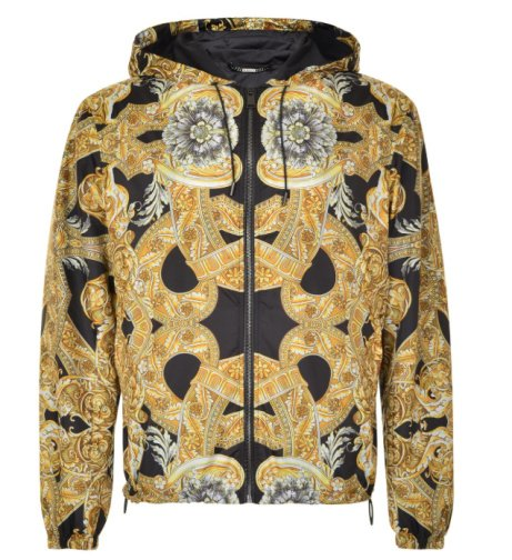 SAVE OVER £450 on this VERSACE Patterned Hooded Jacket!