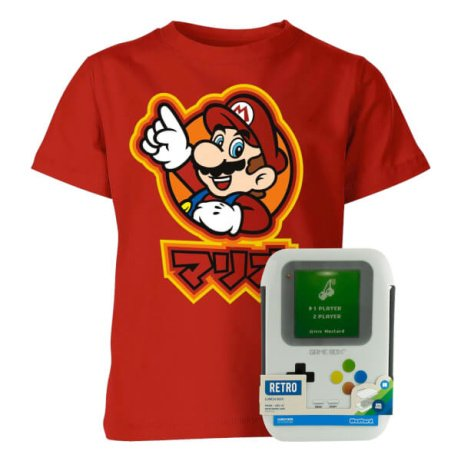 OVER 60% OFF this Nintendo Kids tee with Gameboy Lunch Box!