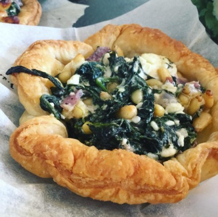 Freshly made feta and spinach tartlets!!