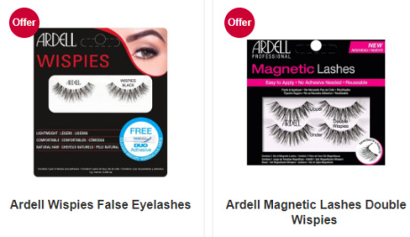 Buy 1 get 2nd HALF PRICE on selected Ardell lashes!
