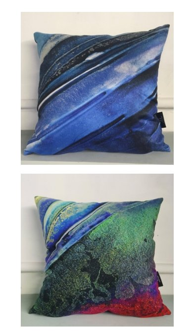 BRIGHT VEGAN SUEDE PRINTED CUSHIONS JUST £35.00!
