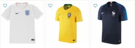 Up to 40% OFF 2018 World Cup Shirts!