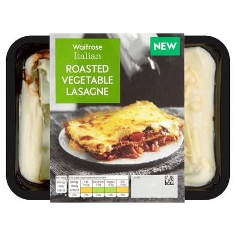 Waitrose Italian Roasted Vegetable Lasagne: £2.75!