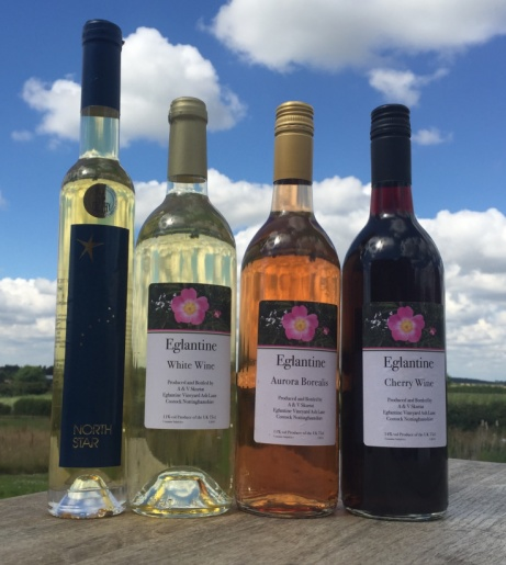 A range of stunning English wines from Nottinghamshire