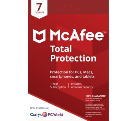 SAVE 64% on MCAFEE Total Protection 2018 - 1 year for 7 devices!