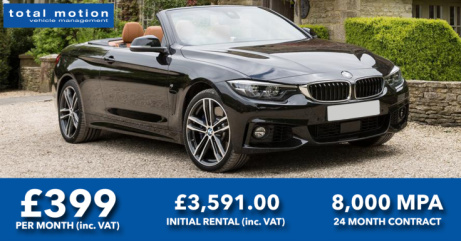BMW 4 Series 420i Convertible M Sport 2dr Auto - Summer Special Leasing Offer!